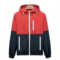 US $8.45 53% OFF|Windbreaker Men Casual Spring Autumn Lightweight Jacket 2019 New Arrival Hooded Contrast Color Zipper up Jackets Outwear Cheap-in Jackets from Men
