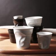 642.28руб. 10% СКИДКА|Высококачественные керамические короткие фарфоровые чашки для кофе, черный матовый белый европейский стиль, чашка для завтрака, молока, чая, оригами, чашки, посуда для напитков-in Кружки from Дом и животные on AliExpress - 11.11_Double 11_Singles