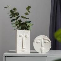 Скандинавские украшения для дома, аксессуары, белая керамическая ваза, украшение для гостиной, декорация, Hogar, современный цветок, вазы, дома... - Шикарные вазы