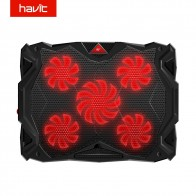 2714.53 руб. 41% СКИДКА|HAVIT Вентилятор охлаждения тихий ноутбук охлаждающая подставка светодиодный USB кулер ноутбук с 5 вентиляторами без шума вентилятор для ноутбука 14