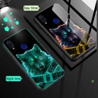 144.25руб. 22% СКИДКА|Чехол для Xiaomi Redmi Note 7 8 Pro, чехол из закаленного стекла, светящийся противоударный роскошный стеклянный чехол для Xiaomi Redmi Note 8 7, чехол-in Специальные чехлы from Мобильные телефоны и телекоммуникации on AliExpress - 11.11_Double 11_Singles