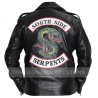 $54.99 - Riverdale Southside Serpents Gang Jacket Jughead Jones Cole Sprouse Biker Jacket | Куртки и пальто с аукциона eBay | eBuyShop.com.ua
