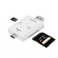 214.81 руб. 15% СКИДКА|Usb type C 3 в 1 многофункциональный адаптер для чтения карт памяти USB Поддержка TF/SD OTG кардридер для Macbook камера Android телефон купить на AliExpress