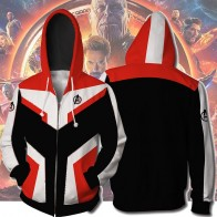 US $13.76 49% OFF|Avengers Endgame Cosplay Quantum Realm Costumes Sweatshirt Hoodie Jacket Captain Marvel Tech Hooded Superhero America Zipper-in Hoodies & Sweatshirts from Men