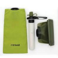 Портативный фильтр для воды miniwell с складной бутылкой с 2-ступенчатой фильтрацией для кемпинга, походов и активного отдыха - Берем в поход