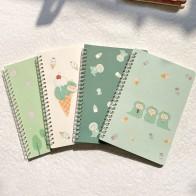 Блокнот А5 в катушке, милый супер плотный тетрадь с сердцем для девочек, учеников средней и старшей школы