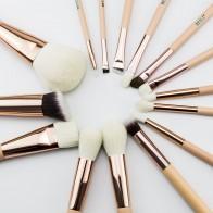 1094.66 руб. 44% СКИДКА|Бейли Розовый Золотой натурального козьего конский волос  для глаз для  контурирующая  лайнер набор кистей для макияжа купить на AliExpress
