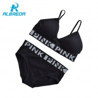 US $7.5 50% OFF|ALBREDA New Arrival Breathable Sexy Sport Bra Sets 2 pc Women Running Yoga Bra Suits No rims Quick drying underwear Gym Vest Top-in Sports Bras from Sports & Entertainment on Aliexpress.com | Alibaba Group