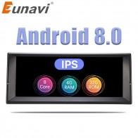 22203.41 руб. 21% СКИДКА|Eunavi 1 Din Octa Core Android 8,0 радио gps стерео Системы для BMW E39 X5 E53 10,2