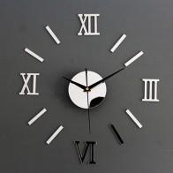 150.62 руб. 26% СКИДКА|Новые часы настенные Horloge 3d Diy акриловые зеркало наклейки украшения дома гостиная иглы купить на AliExpress