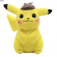 US $9.82 34% OFF|28cm Pikachu Plush Toy Stuffed Toy Detective Pikachu Japan Movie Anime Toys for Children Doll for Kid Baby Birthday Gifts Anime-in Stuffed & Plush Animals from Toys & Hobbies on AliExpress