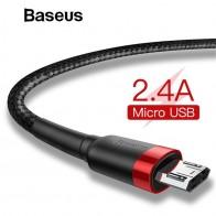Baseus 1 m 2 м кабель Micro USB для Xiaomi Redmi Note 5 Pro 4 Реверсивный Micro USB Зарядное устройство кабель для samsung S7 мобильного телефона купить на AliExpress