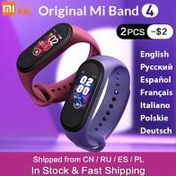 В наличии оригинальный Xiaomi mi Band 4 Smart mi band 3 Цвета экран Браслет фитнес трекер для измерения сердечного ритма Bluetooth 5,0 водонепроницаемый банда4-in Смарт-браслеты from Бытовая электроника on AliExpress