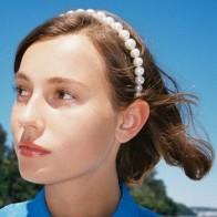 Модные повязки на голову в богемном стиле, женские аксессуары для волос, модные заколки для волос с искусственным жемчугом и бусинами для же... - Жемчуг