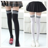 US $1.12 40% OFF|New Socks Fashion Stockings Casual Cotton Thigh High Over Knee Acrylic High Socks Girls Womens Female Long Knee Sock 2018-in Stockings from Underwear & Sleepwears on AliExpress - 11.11_Double 11_Singles
