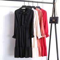 689.69 руб. 23% СКИДКА|2019 весеннее платье с длинным рукавом офисное платье в горошек винтажное платье женское повседневное красное цветочное осеннее шифоновое платье миди для дам купить на AliExpress