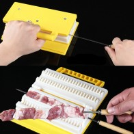 US $5.12 29% OFF|BBQ Kebab Maker Double / Single Row 1 Pcs Meat Skewer Machine Quick Skewer Easy BBQ Tools 2019 New Outdoor Kitchen Accessories-in Skewers from Home & Garden on Aliexpress.com | Alibaba Group