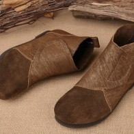 3172.1 руб. 10% СКИДКА|Новые осенние ботинки с круглым носком; короткие кожаные ботинки; ботинки на плоской подошве; ковбойская кожа; антикварная повседневная женская обувь.-in Ботильоны from Туфли on Aliexpress.com | Alibaba Group