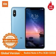 US $148.19 22% OFF|Global Version Xiaomi Redmi Note 6 Pro 3GB 32GB Mobile Phone 6.26