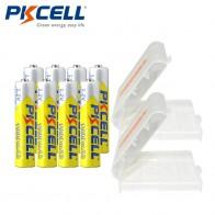 548.63 руб. 30% СКИДКА|8 шт. * PKCELL AAA батарея Ni MH 1,2 в 1000 мАч AAA аккумуляторные батареи 3A Bateria Baterias с 2 батарейками-in Подзаряжаемые батареи from Бытовая электроника on Aliexpress.com | Alibaba Group