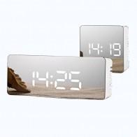 502.2 руб. 44% СКИДКА|Светодиодный Будильник с зеркалом цифровой будильник настольные часы Пробуждение свет электронный дисплей большой температуры времени украшение для дома часы-in Будильники from Дом и сад on Aliexpress.com | Alibaba Group