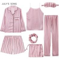 1388.31 руб. 42% СКИДКА|Женский атласный пижамный комплект JULY