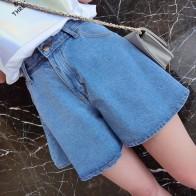 US $16.98  plus size denim jeans shorts women summer style 2016 bermuda feminina ladies shorts High waist wide leg shorts for women A0251-in Shorts from Women