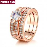 228.69 руб. 44% СКИДКА|Одежда высшего качества фианит 3 круглый розовое золото цвет кольцо подлинные кристаллы из Австрии Полный размеры оптовая продажа ZYR059 ZYR060 купить на AliExpress