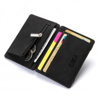 US $4.99  Ultra Thin 2019 New Men Male PU Leather Mini Small Magic Wallets Zipper Coin Purse Pouch Plastic Credit Bank Card Case Holder -in Wallets from Luggage & Bags on Aliexpress.com   Alibaba Group