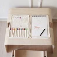 Органайзер для дома и офиса из холста, сумка для хранения канцелярских принадлежностей для детей, Настольная организация, карандаш-раскрас... - Снова в школу