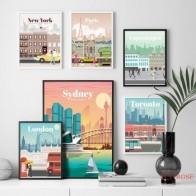 Лондон, Нью-Йорк, Париж, Испания, Карта города, настенная живопись, холст, скандинавские постеры и принты, настенные картины для гостиной, дом... - Плакаты и постеры