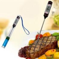 Белый цифровой термометр для мяса, зонд из нержавеющей стали для кухни, барбекю, мясная пища, термометр, молочный жидкий зонд