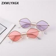 2018 Новый многоугольный солнцезащитные очки для женщин и мужчин, дизайнерские Винтажные Солнцезащитные очки, прозрачные солнцезащитные очк... - Трендовые очки