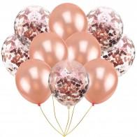 10 шт микс розового золота конфетти латексные шары розовый 12 дюймов вечерние шары детская игрушка в ванную ДУШ свадебные украшения купить на AliExpress