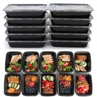 US $8.58 |Square American Meal Box PP Food Container Lunch Box Bento Picnic Eco friendly With Lid Microwavable Lunchboxes 10PCS-in Lunch Boxes from Home & Garden on Aliexpress.com | Alibaba Group
