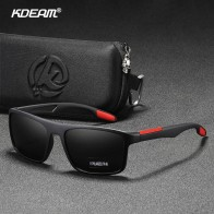 KDEAM Rectangular Ultra Light TR90 Sunglasses Men Polarized TAC 1.1mm Thickness Lens Driving Sun Glasses Women Sports Cat.3