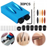 US $11.62 45% OFF|30pcs Pocket Hole Jig Kit 6/8/10mm Woodworking Angle Drill Guide Set Hole Puncher Locator Jig Drill Bit Set For Carpentry Tools-in Drill Bits from Tools on AliExpress