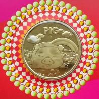 98.09 руб. |30 мм год свиньи Шанхай мята Китай медаль МОНЕТА подарок 2019-in Декоративные монеты from Дом и сад on Aliexpress.com | Alibaba Group