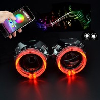 US $21.18 23% OFF|2.5 inch car Bi xenon hid Projector lens with RGB app Bluetooth function angel eyes mask bulb lamp car assembly kit For H1 H4 H7-in Car Light Accessories from Automobiles & Motorcycles on Aliexpress.com | Alibaba Group