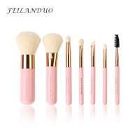 Feilanduo Профессиональный набор кистей для макияжа 7 шт. высокое качество макияж для инструментов фиолетовый составляют кисти Косметика Инструмент купить на AliExpress