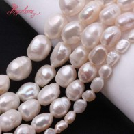 US $3.24 52% OFF| 5 7/8 9/9 10/10 11mm White Potato Natural Freshwater Pearl Beads Strand Loose 15