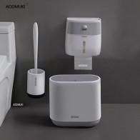 Набор для ванной комнаты TRP щетка для унитаза водонепроницаемый держатель для туалетной бумаги мусорное ведро для чистого инструмента и ко...