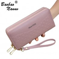 US $7.52 34% OFF|Wristband Women Long Clutch Wallet New Solid Large Capacity Wallets Female Lady Purses Phone Pocket Card Holder Double Zippers-in Wallets from Luggage & Bags on Aliexpress.com | Alibaba Group