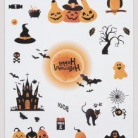 1 лист стикер-тату хэллоуин с мультипликационным принтом - Аксессуары на Хэллоуин