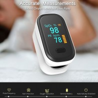 Finger Pulse Oximeter With Case Fingertip Oximetro de pulso de dedo LED Pulse Oximeters Saturator Pulsioximetro Monitor