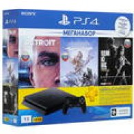 Купить Игровая приставка PlayStation 4 Slim + Horizon: Zero Dawn, The Last of Us, Detroit: Become Human в интернет магазине DNS. Характеристики, цена PlayStation 4 Slim | 1366507
