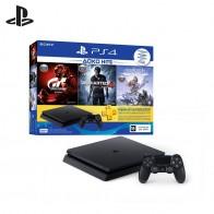 Видеоприставка Sony PlayStation 4 CUH 2108A + игра «Horizon Zero Dawn» + игра «GT Sport» + игра «Uncharted 4» + PS Plus 3 мес.-in Игровые консоли from Бытовая электроника on AliExpress