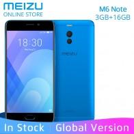8677.42 руб. |Meizu M6 Примечание 3 GB Оперативная память 16 Гб Встроенная память глобальная версия чехла с листочком для мобильного телефона 4G LTE Snapdragon 625 Octa Core 5,5