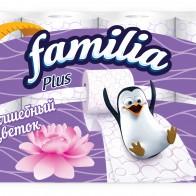 """Туалетная бумага Familia Plus """"Волшебный цветок"""", 2 слоя, 8 рулонов - Туалетная бумага - в кризис всегда пригодится"""