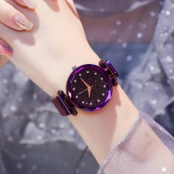 US $3.59 28% OFF|Luxury Women Watches Ladies Magnetic Starry Sky Clock Fashion Diamond Female Quartz Wristwatches relogio feminino zegarek damski-in Women